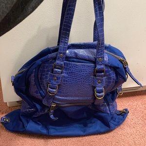 Lululemon blue faux croc gym bag